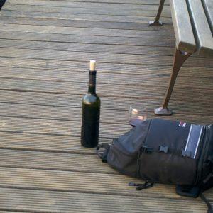 Genießen mit einer Flasche Wein