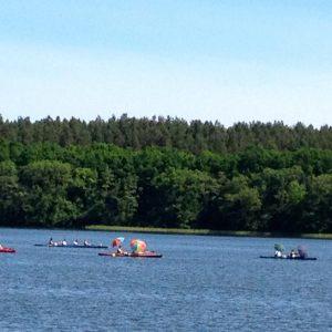 Kanufahren auf der Seenplatte
