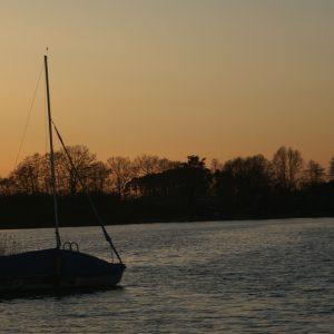 Sonnenuntergang am Pälitzsee